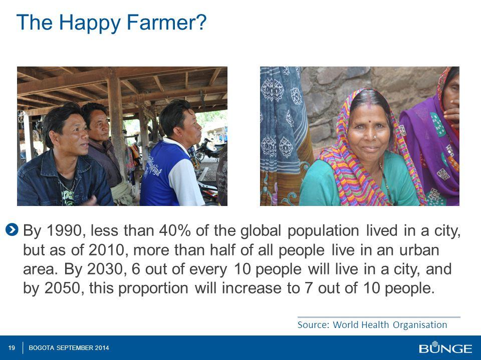 19 BOGOTA SEPTEMBER 2014 The Happy Farmer.
