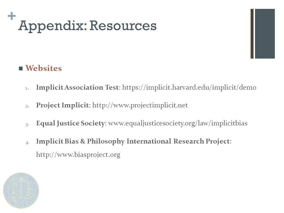 + Appendix: Resources Websites 1.
