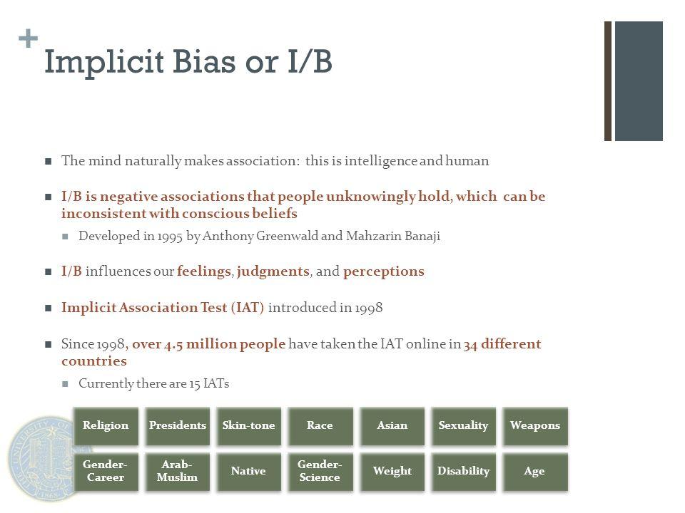 + Global Perspectives on Gender: Implicit Bias cont.