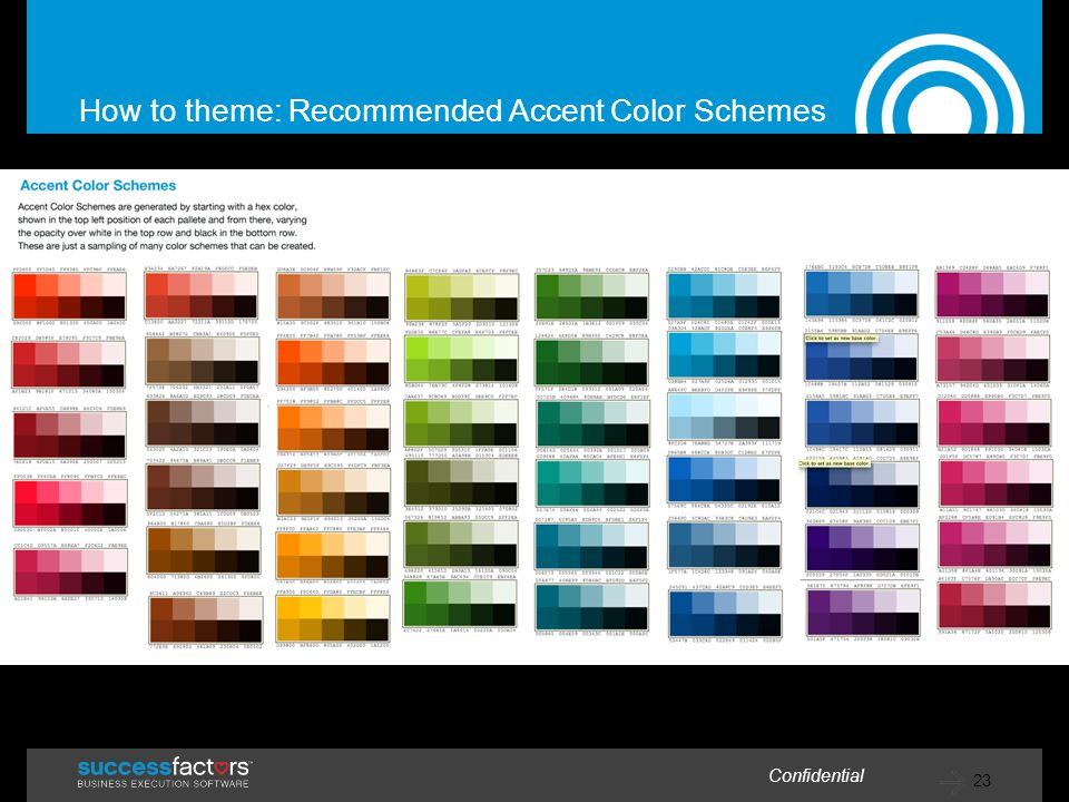 23 Confidential How to theme: Recommended Accent Color Schemes