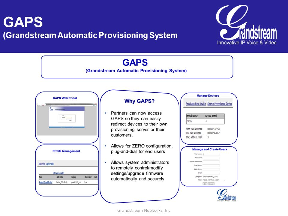 Grandstream Networks, Inc GAPS (Grandstream Automatic Provisioning System