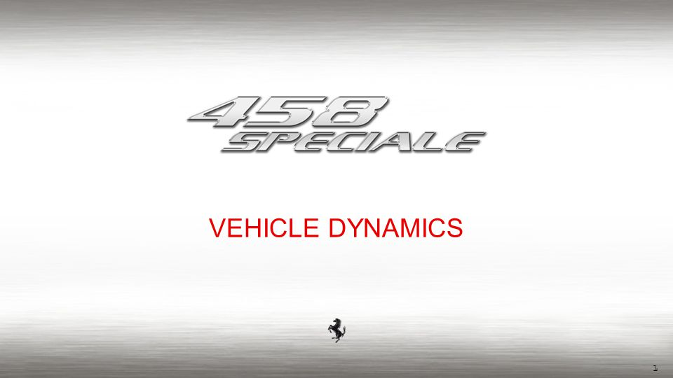 1 VEHICLE DYNAMICS