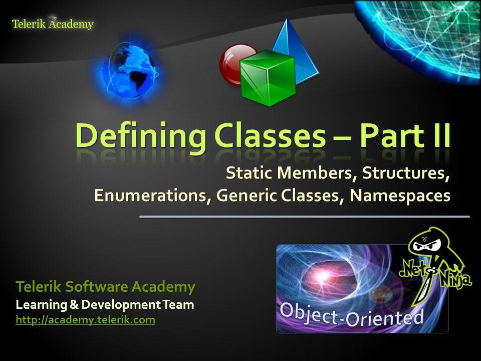 Custom Attributes – ExampleCustom Attributes – Example 52 [AttributeUsage(AttributeTargets.Struct | AttributeTargets.Class | AttributeTargets.Interface, AttributeTargets.Class | AttributeTargets.Interface, AllowMultiple = true)] AllowMultiple = true)] public class AuthorAttribute : System.Attribute { public string Name { get; private set; } public string Name { get; private set; } public AuthorAttribute(string name) public AuthorAttribute(string name) { this.Name = name; this.Name = name; }} // Example continues // Example continues