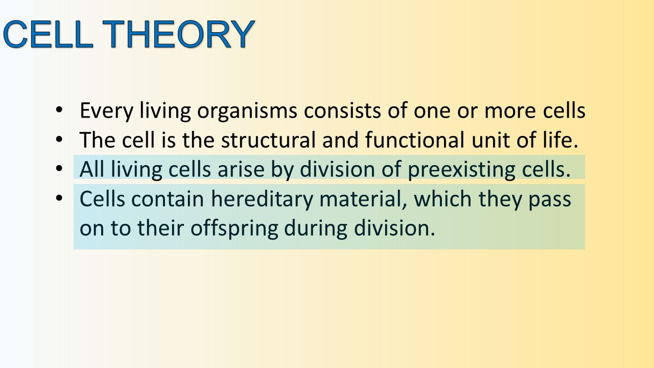 Every living organisms consists of one or more cells The cell is the structural and functional unit of life.