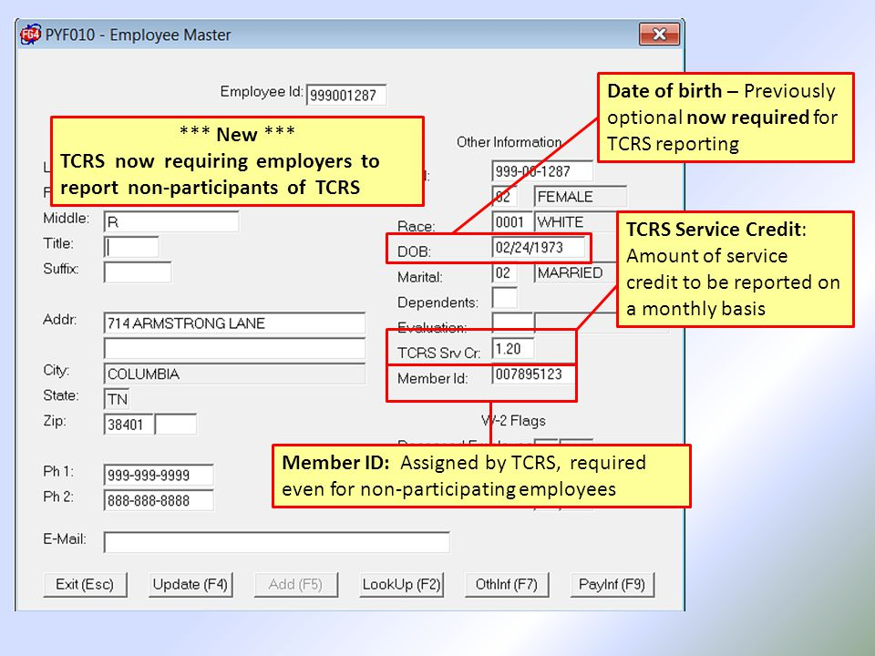 The amount of TCRS Service Credit is dependent upon the Contract Months 12 Month Contract= 1.000 11 Month Contract= 1.090 10 Month Contract= 1.200 09 Month Contract= 1.330