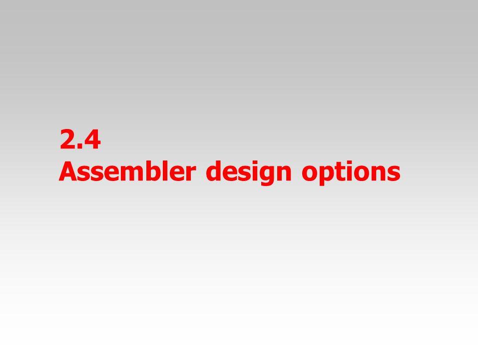 2.4 Assembler design options