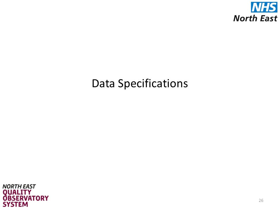 Data Specifications 26