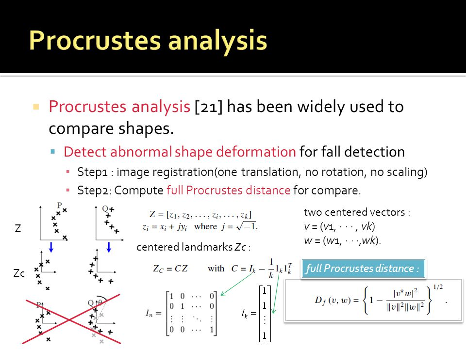  Procrustes analysis [21] has been widely used to compare shapes.