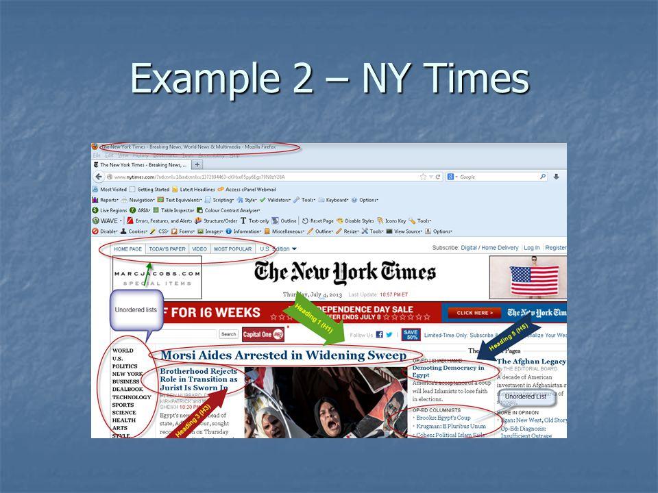Example 2 – NY Times