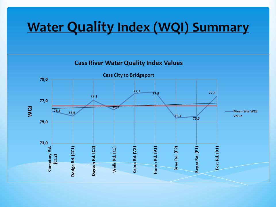 Water Quality Index (WQI) Summary
