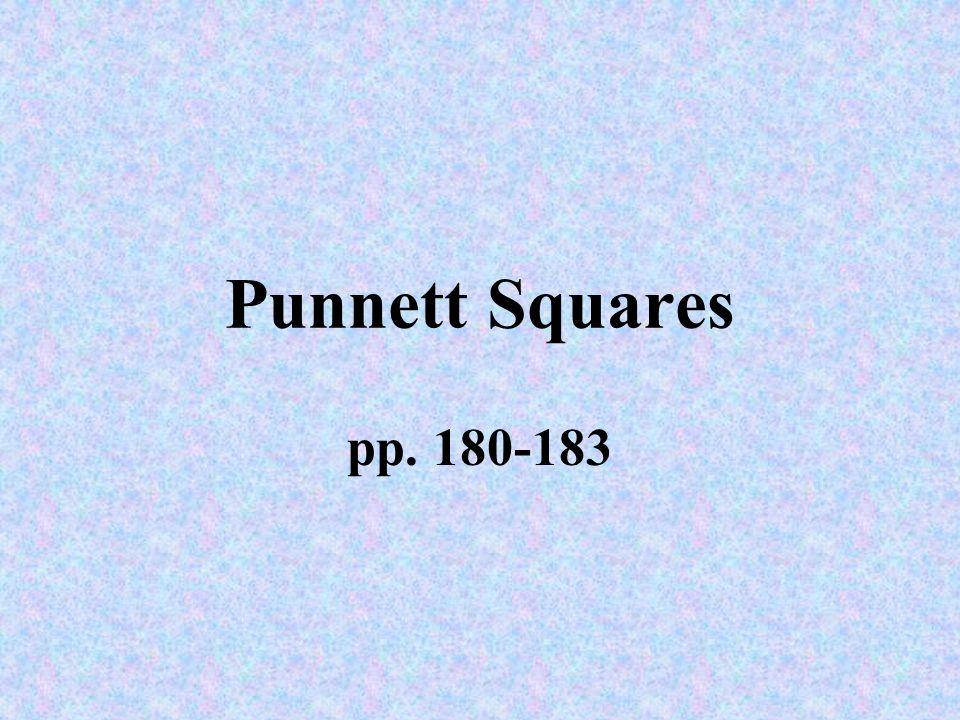 Punnett Squares pp. 180-183