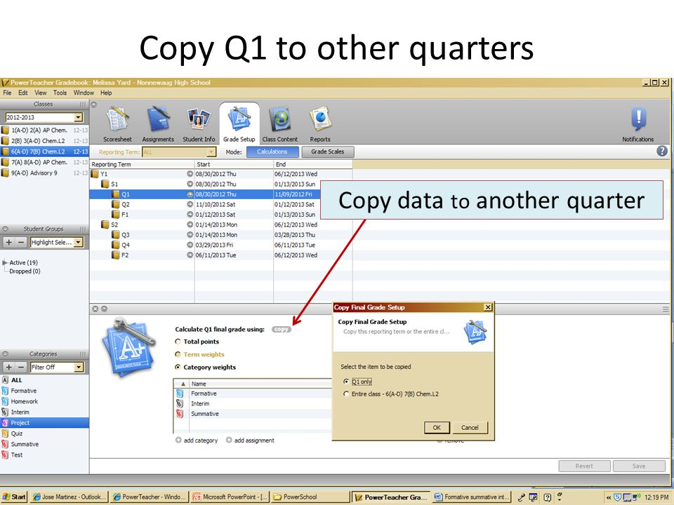 Copy Q1 to other quarters Copy data to another quarter