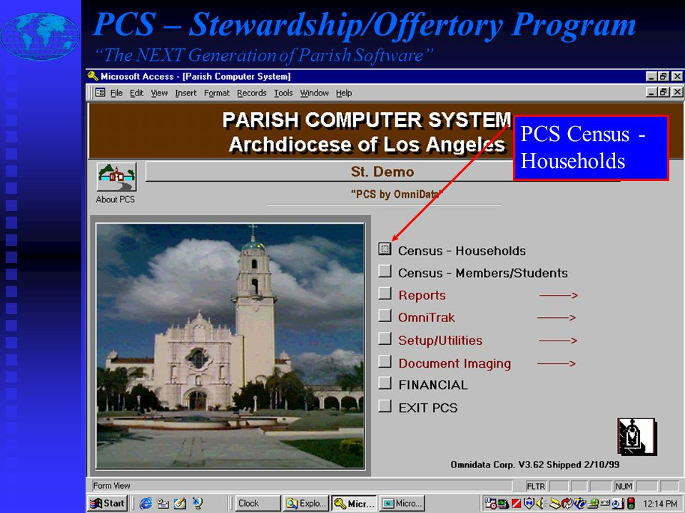 Slide #13 of 17 / {ESC} Return to Main Menu / F1 Help Mail Merge Letter produced using Information Directly from the PCS Mail Merge Field View PCS – Stewardship/Offertory Program The NEXT Generation of Parish Software