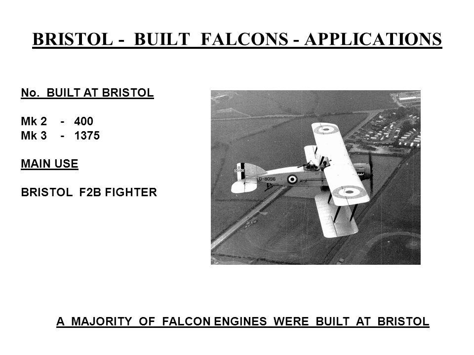 BRISTOL - BUILT FALCONS - APPLICATIONS No.