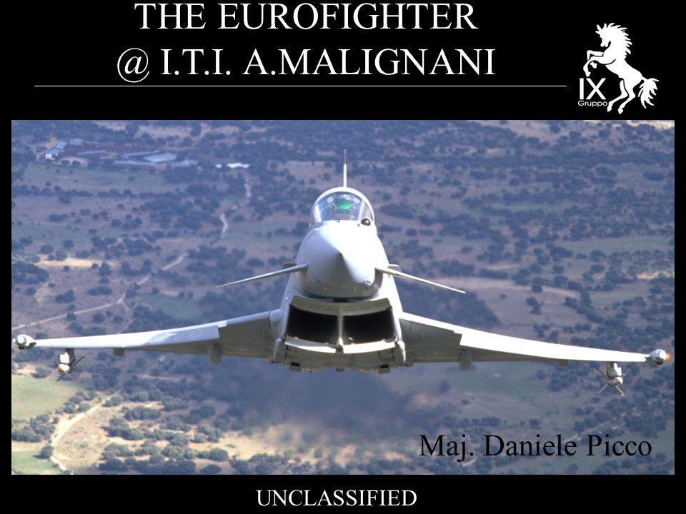 THE EUROFIGHTER @ I.T.I. A.MALIGNANI UNCLASSIFIED Maj. Daniele Picco
