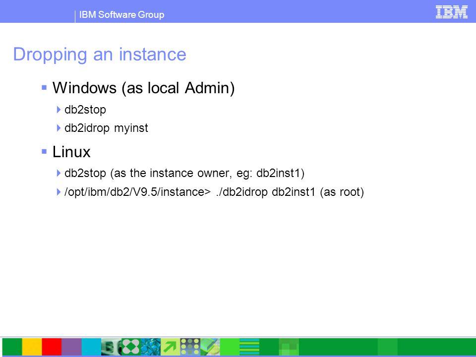 IBM Software Group The DB2 Environment