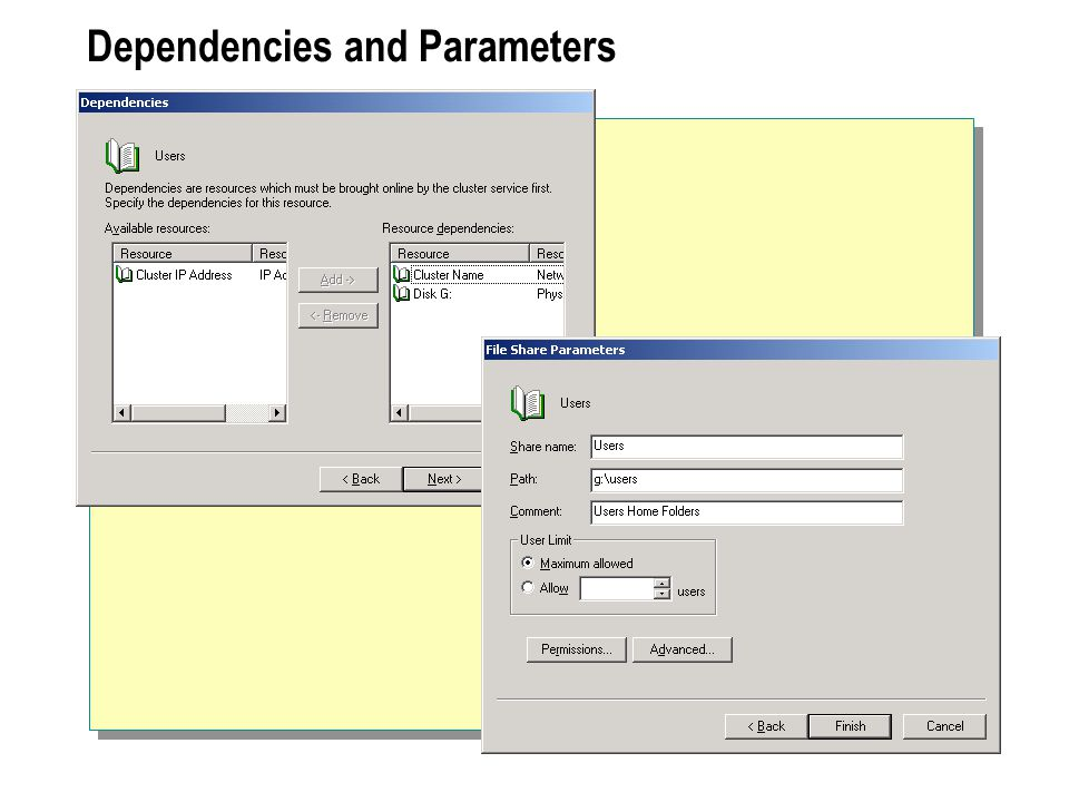 Dependencies and Parameters