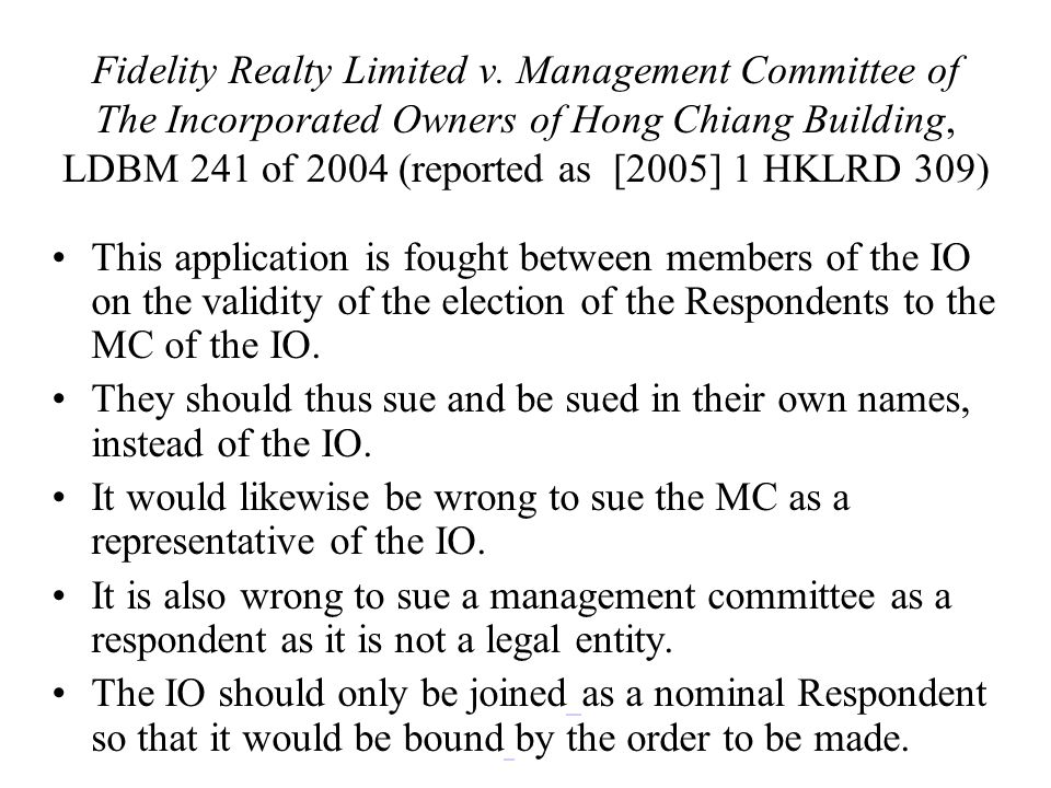 Fidelity Realty Limited v.