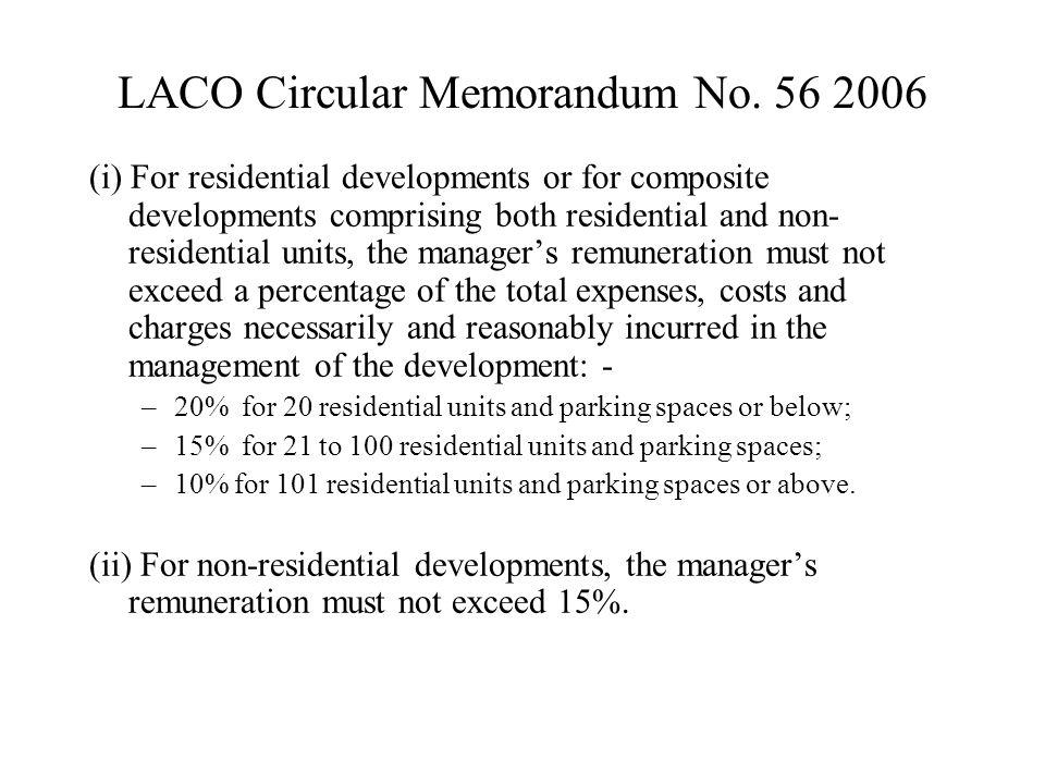LACO Circular Memorandum No.