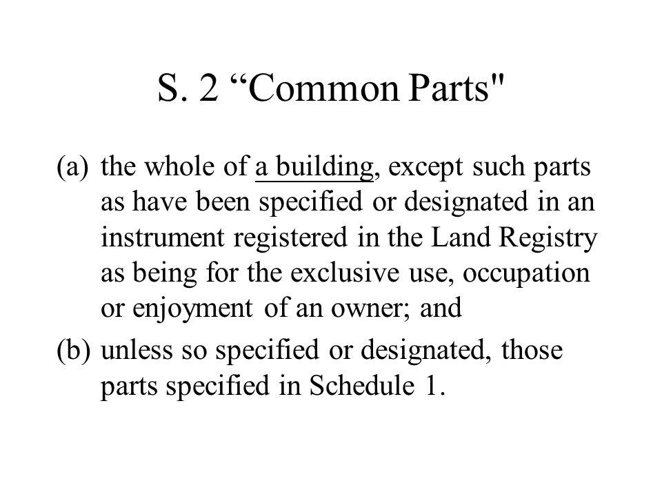 "S. 2 ""Common Parts"