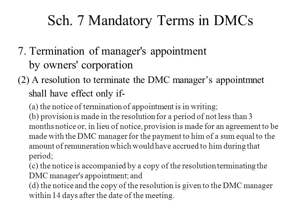 Sch.7 Mandatory Terms in DMCs 7.