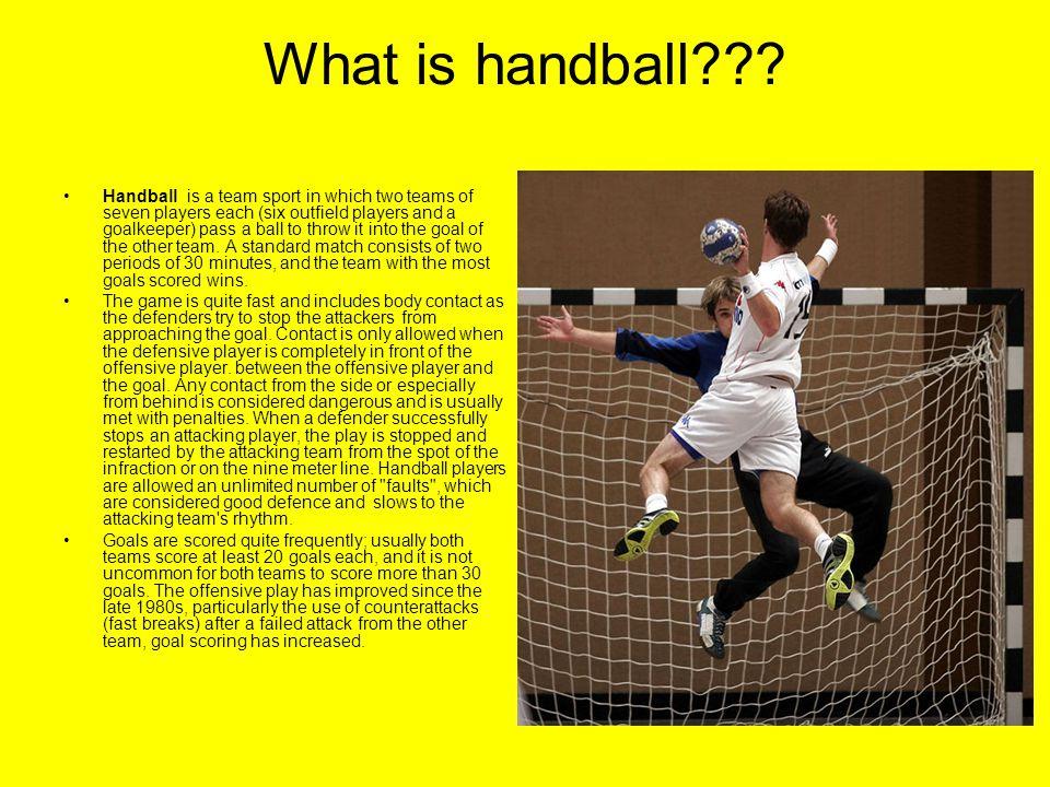 What is handball??.