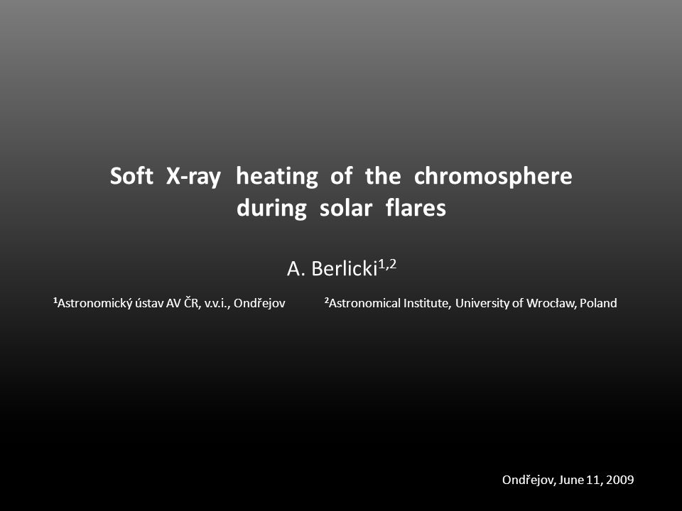 Soft X-ray heating of the chromosphere during solar flares A.