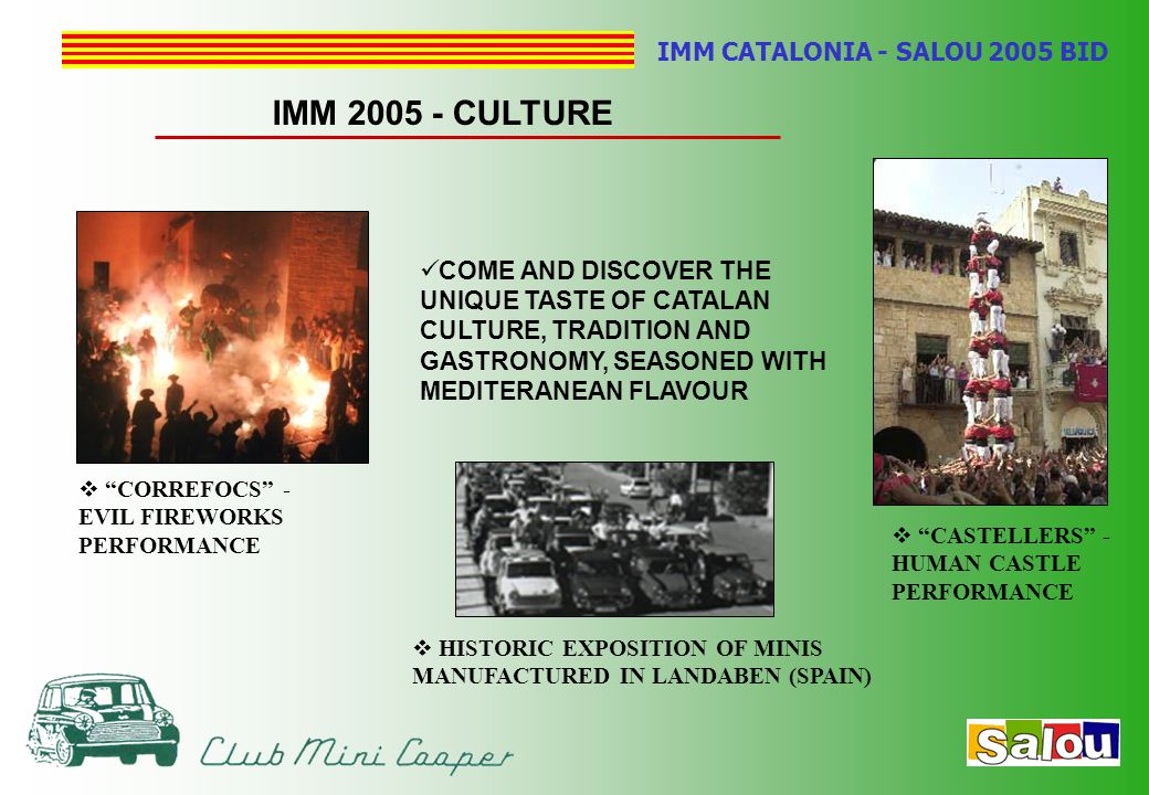 "IMM CATALONIA - SALOU 2005 BID IMM 2005 - CULTURE  ""CASTELLERS"" - HUMAN CASTLE PERFORMANCE  HISTORIC EXPOSITION OF MINIS MANUFACTURED IN LANDABEN (S"