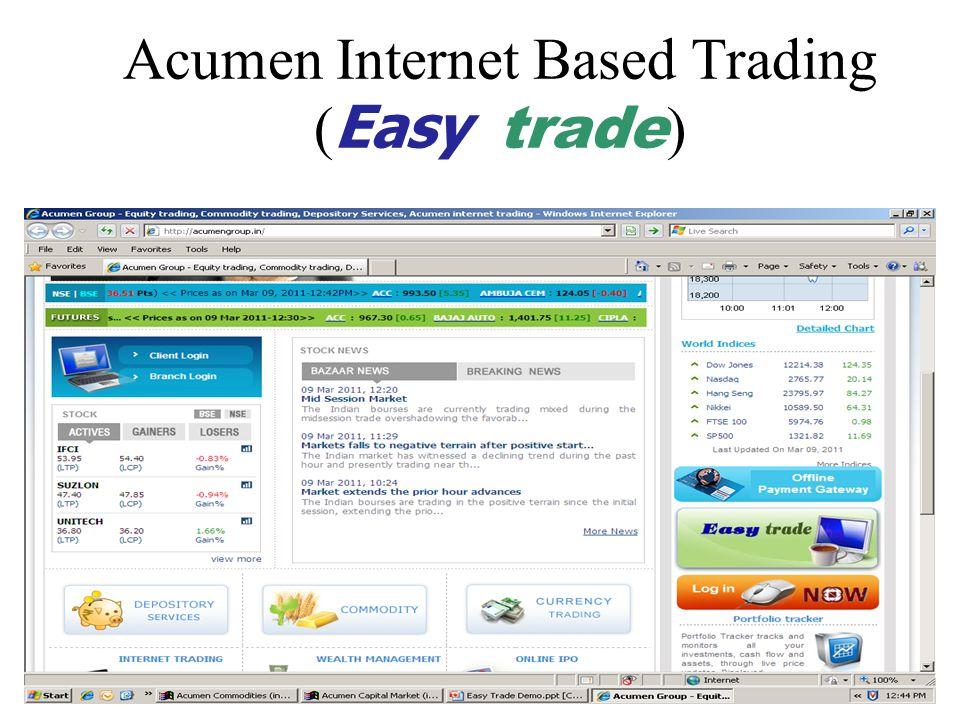 Acumen Internet Based Trading ( Easy trade )