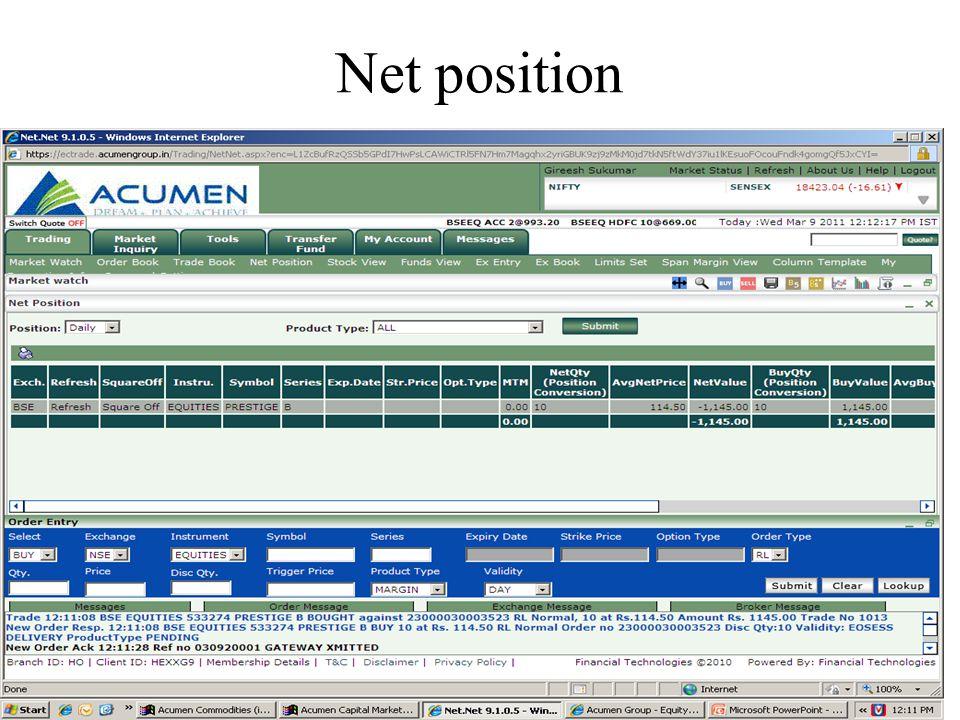 Net position