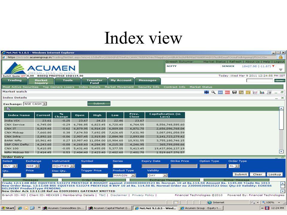 Index view