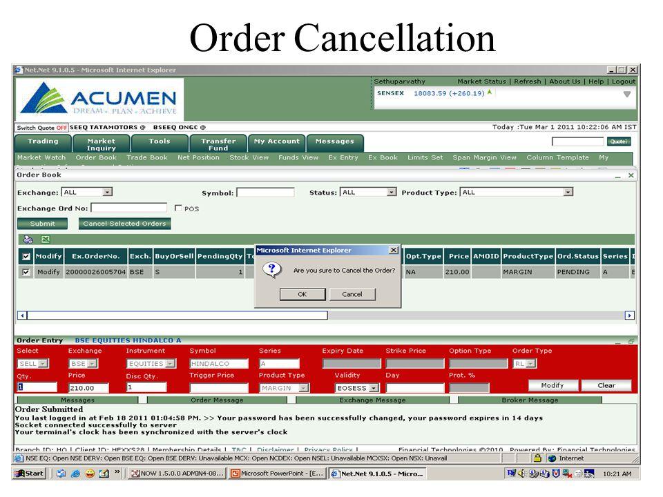 Order Cancellation