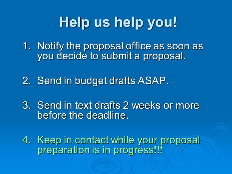Help us help you. Help us help you. 1.