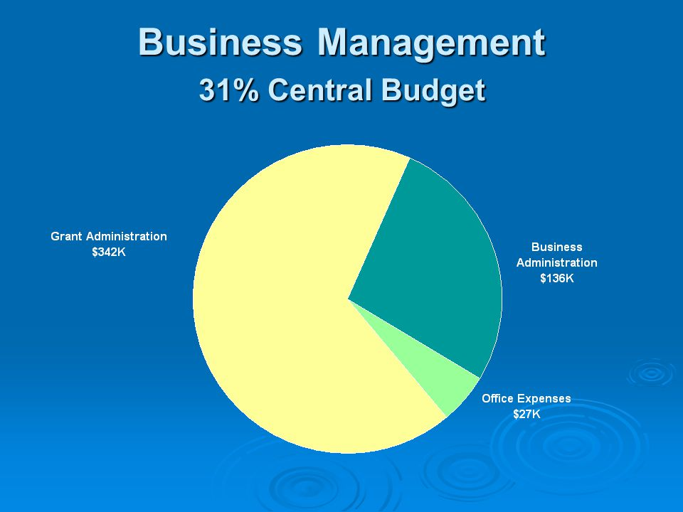 Business Management 31% Central Budget