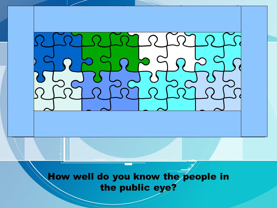 How well do you know the people in the public eye