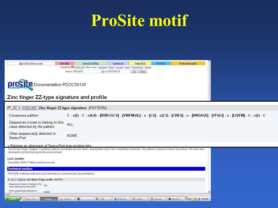 ProSite motif