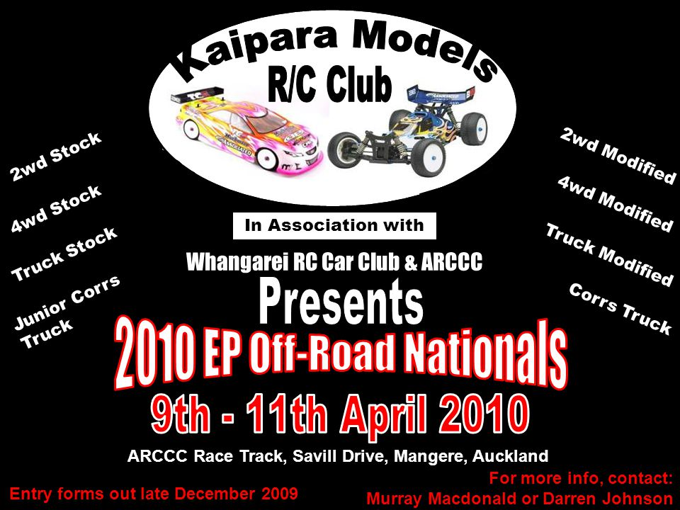 ARCCC Race Track, Savill Drive, Mangere, Auckland In Association with Whangarei RC Car Club & ARCCC 2wd Stock 4wd Stock Junior Corrs Truck Truck Stock