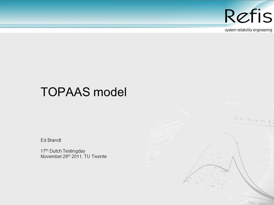 TOPAAS model Ed Brandt 17 th Dutch Testingday November 29 th 2011, TU Twente