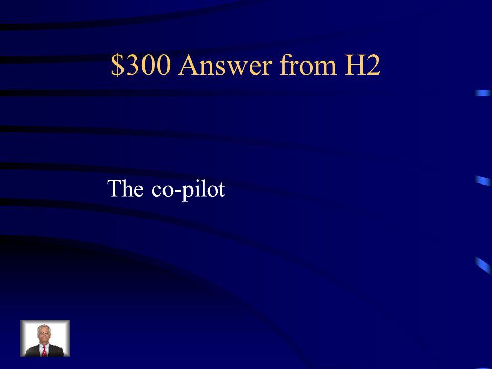 $300 Question from H2 Cómo se dice el/ la copiloto en Inglés