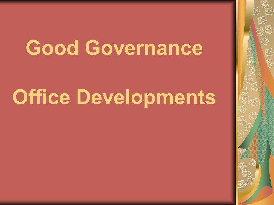 Good Governance Office Developments