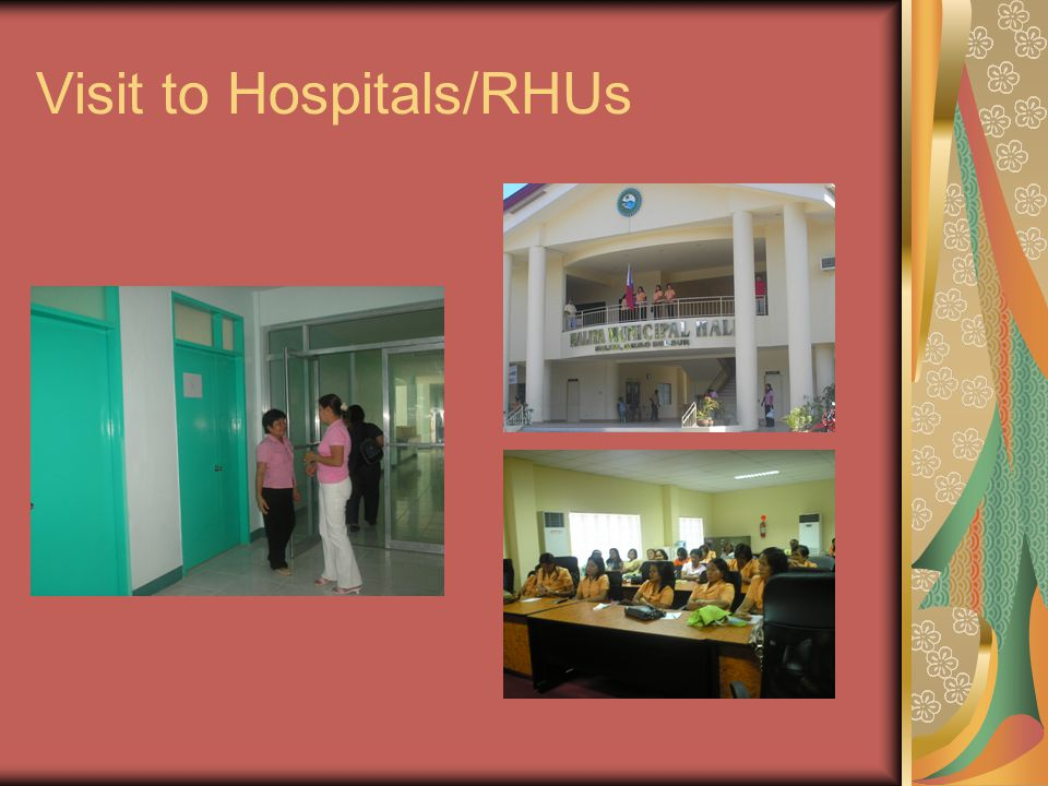 Visit to Hospitals/RHUs