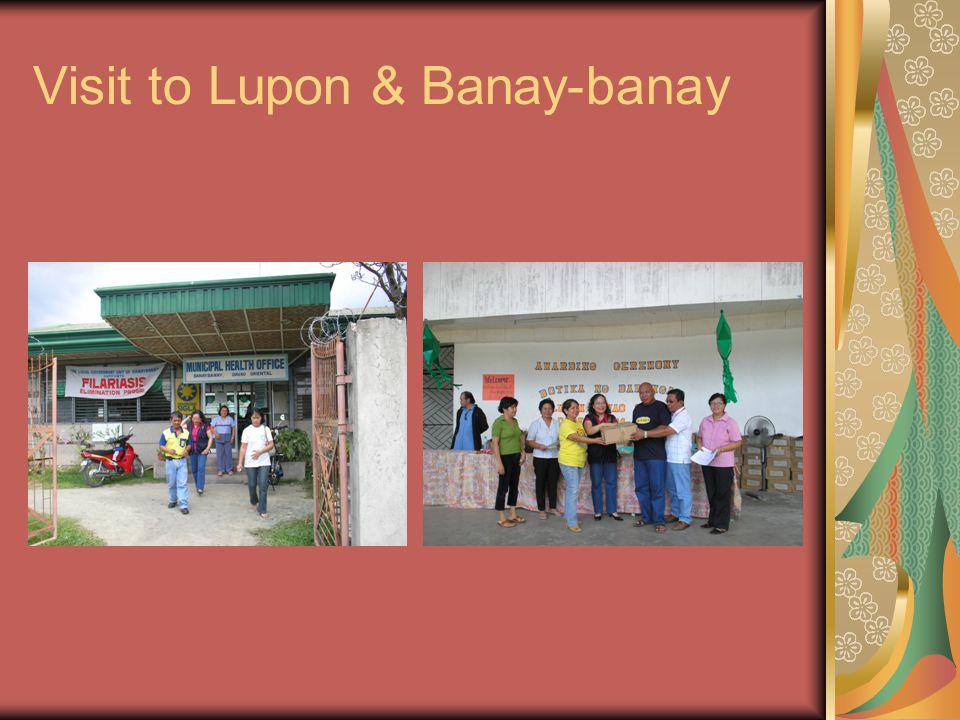 Visit to Lupon & Banay-banay