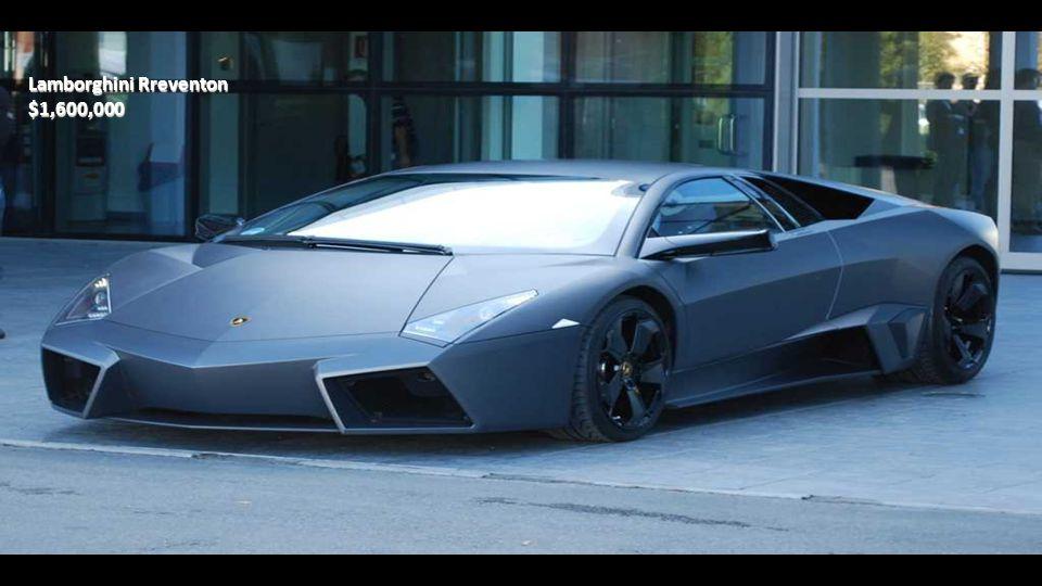 Lamborghini Aventador $387,000