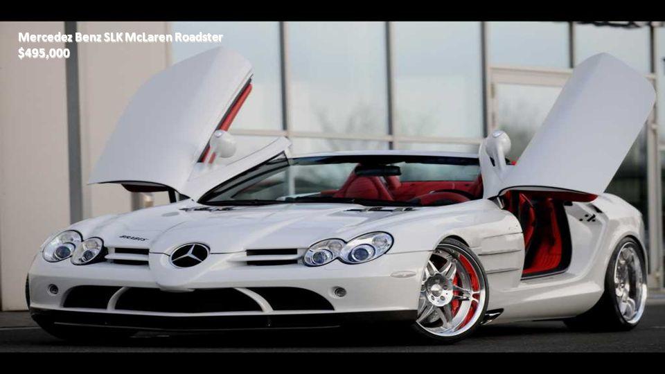 Mercedes Benz SLK350 $55,000