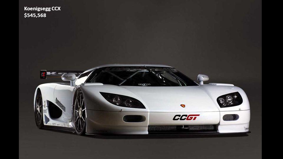 Porsche Carrera GT$440,000