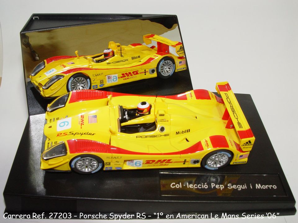 "Carrera Ref. 27203 – Porsche Spyder RS – ""1º en American Le Mans Series '06"""