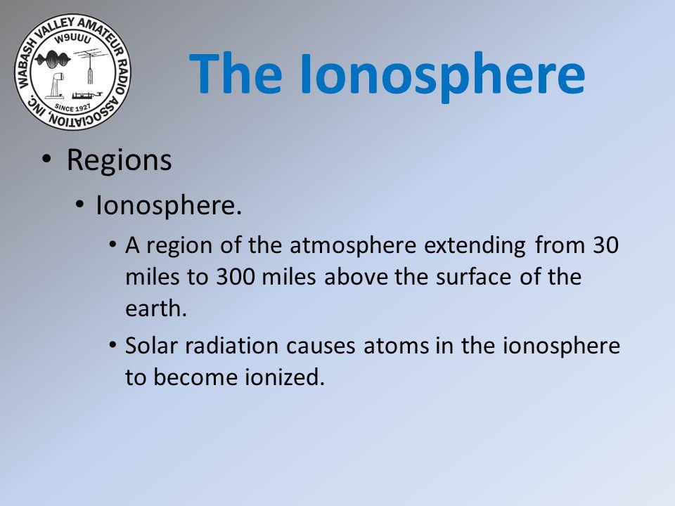 Regions Ionosphere.The ionosphere organizes itself into regions or layers .
