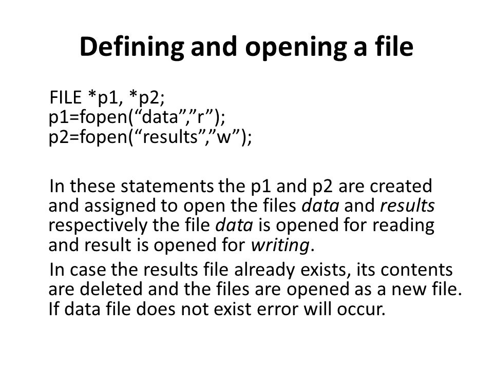 Reading and Writing Files infile = fopen ( testdata , r ) ; fscanf (infile, %f %d %f , &e, &f, &g) ; printf ( %6.2f%2d%5.2f\n , a, b, c) ; printf ( %6.2f,%2d,%5.2f\n , e, f, g) ; } 13.72 5 6.68 13.72, 5, 6.68