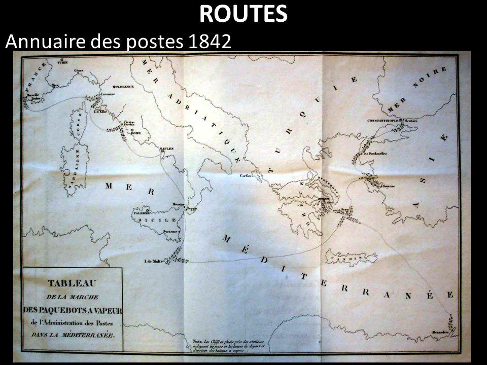 ROUTES Annuaire des postes 1842