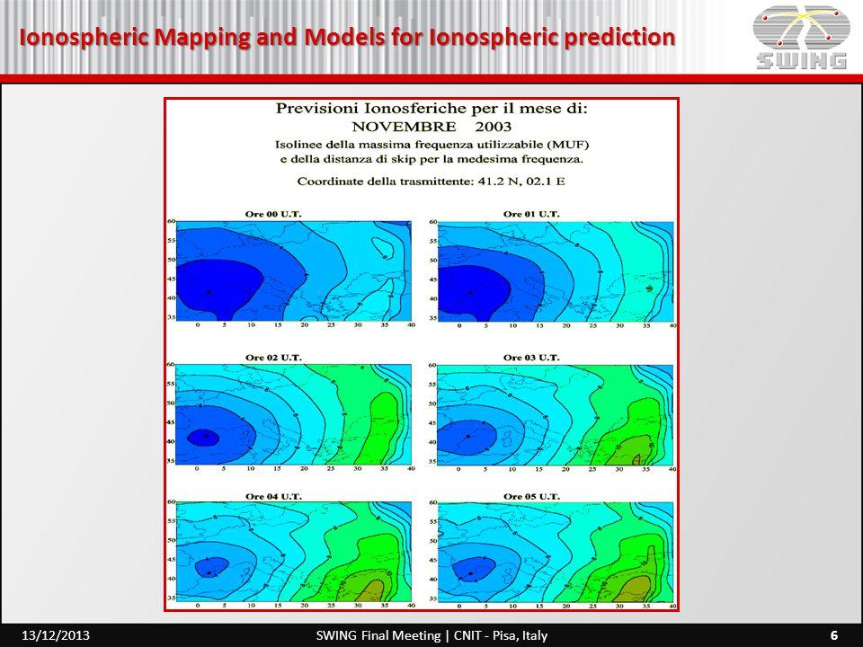 Ionospheric Prediction and Forecasting 17SWING Final Meeting | CNIT - Pisa, Italy13/12/2013 Qui futura cognoscere profitetur, mentitur….